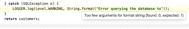 String format potential bug