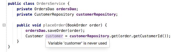 Unused code