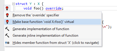 Make base function virtual quick-fix