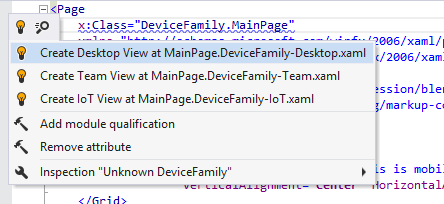 Code inspections for UWP device family
