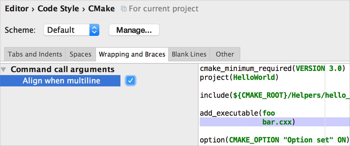 align_cmake_setting
