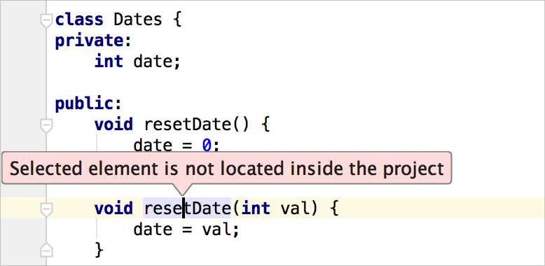 element is not inside the project