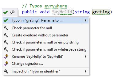 ReSpeller showing typos