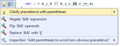 Code style clarify precedence with parentheses