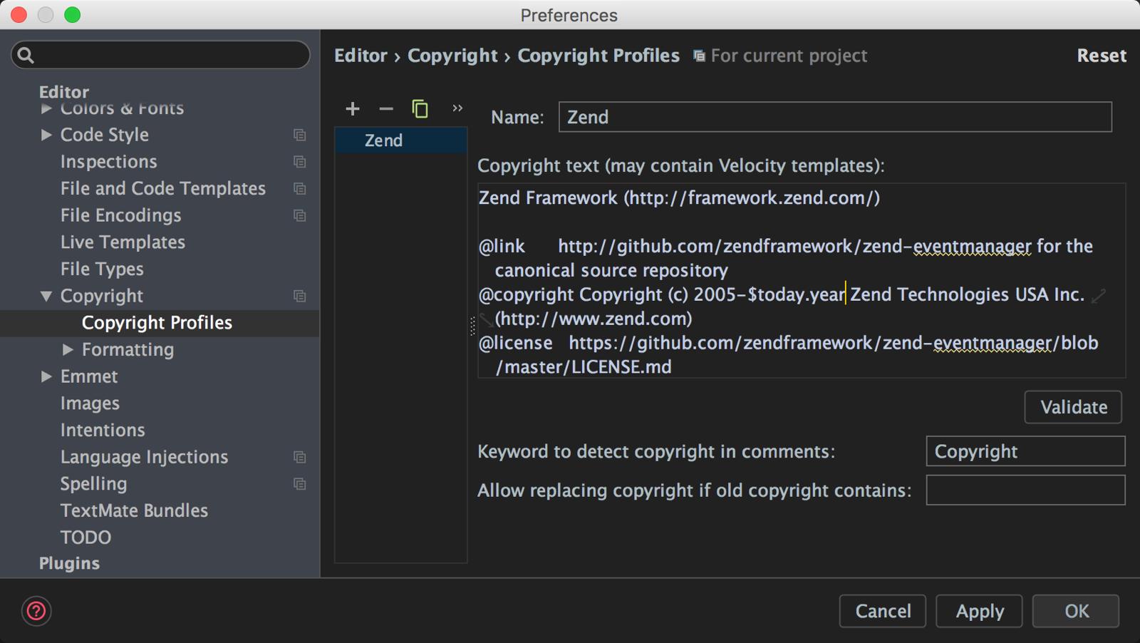 Copyright Profile