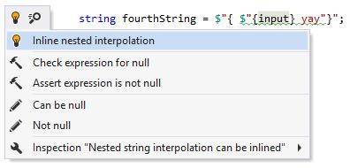 Inline nested string interpolation