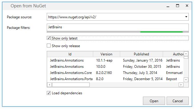 dotPeek: Loading assemblies from NuGet packages