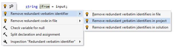 Remove redundant verbatim character
