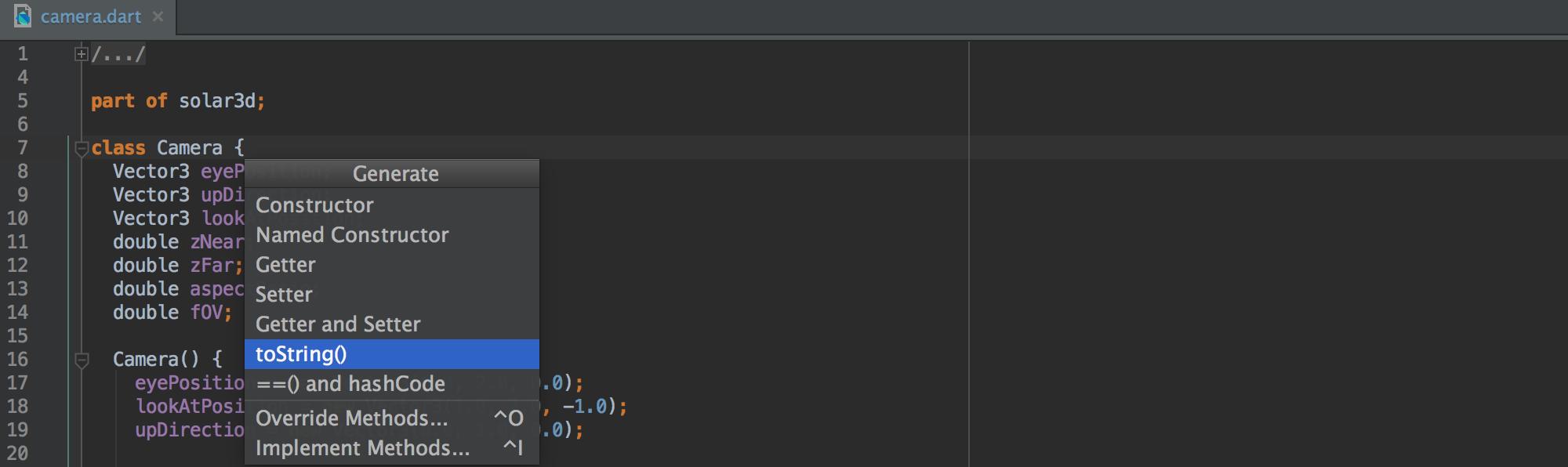 dart-generate-code