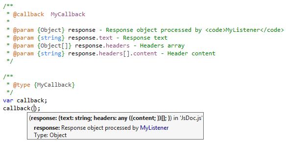 JsDoc support improvements in ReSharper 10.1 EAP