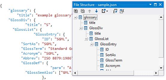 JSON file structure