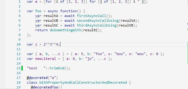 Experimental ECMAScript support in ReSharper