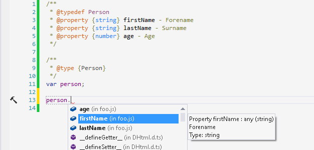 ReSharper support for types defined in JSDoc 3