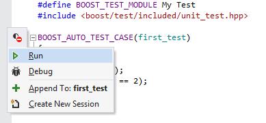 Boost.Test support in ReSharper C++