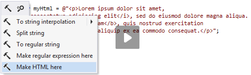 Injecting HTML inside a string literal