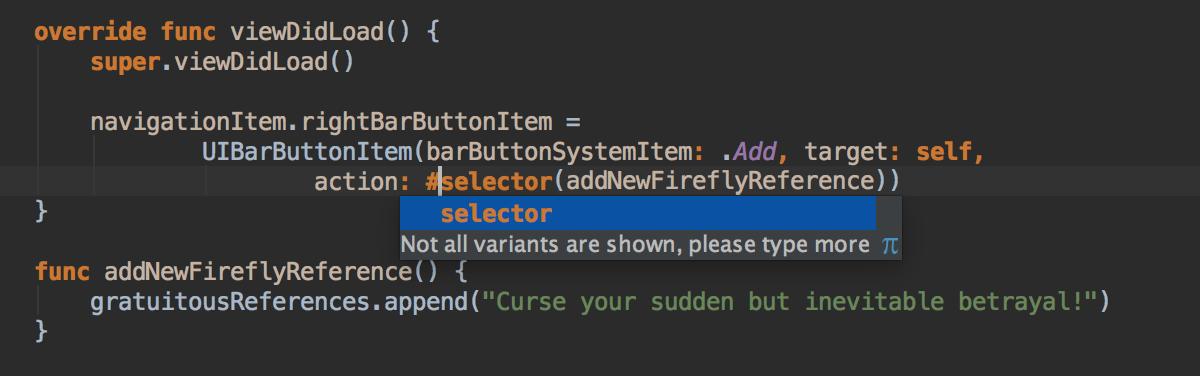 Typesafe selector