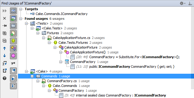 Find Usages tool window