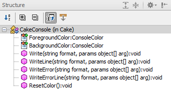 File Structure tool window