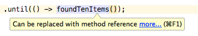 Collapse Lambda to Method Reference