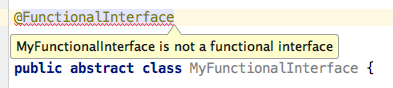 Functional interface that's actually a class