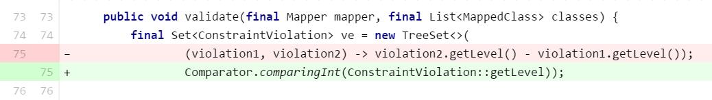 Using new comparator methods