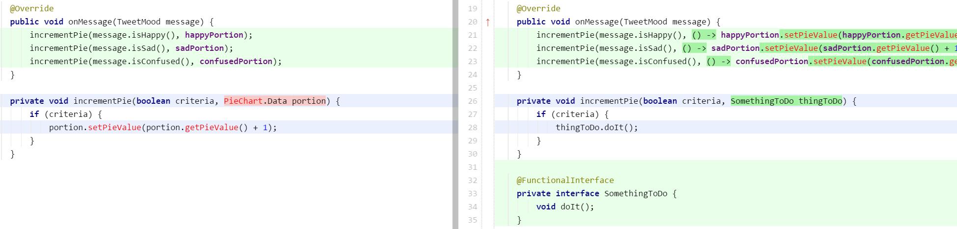 Lambda parameter unnecessary
