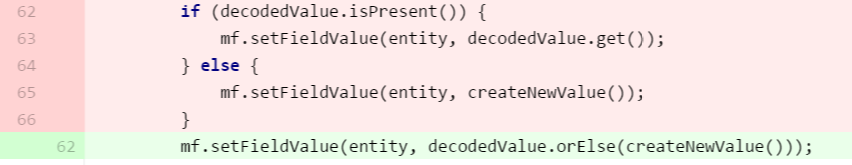 Optional using if else can be simplified