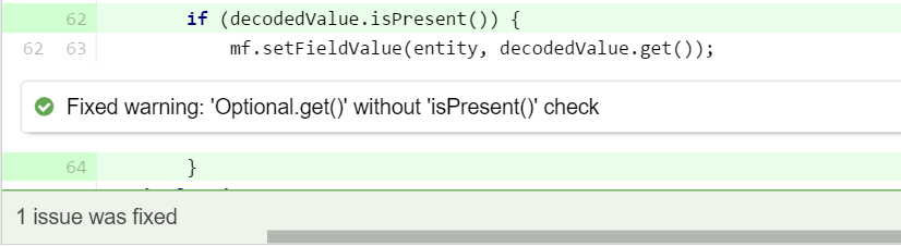 Checking the Optional value is present
