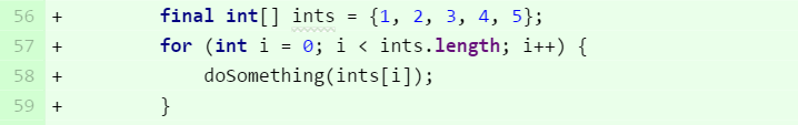 Use for loops with primitive arrays
