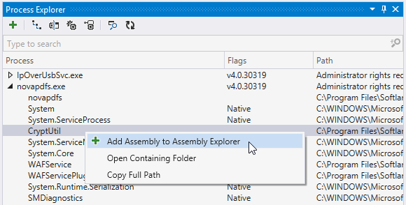 Process Explorer window in ReSharper 2016.2