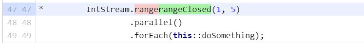 IntStream using rangeClosed