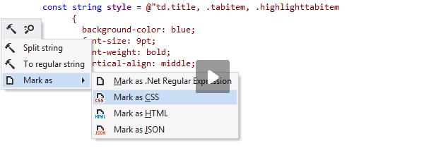 Injecting CSS in a C# string
