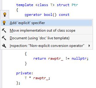 Non-explicit converting constructor