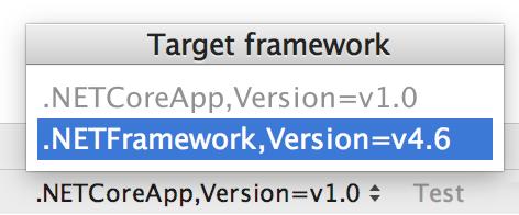 Target framework switcher