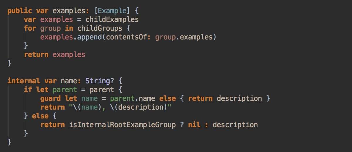 Swift semantic highlighting