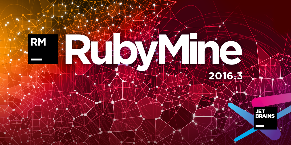 RubyMine 2016.3 splash