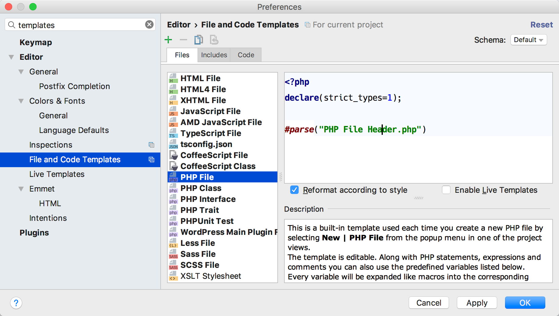 php-templates