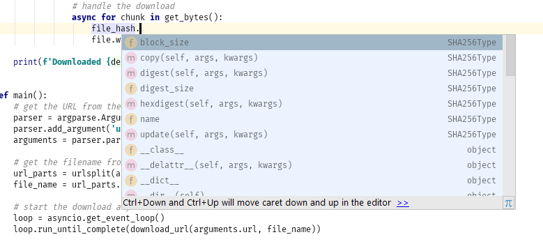 Code completion working after adding type annotation