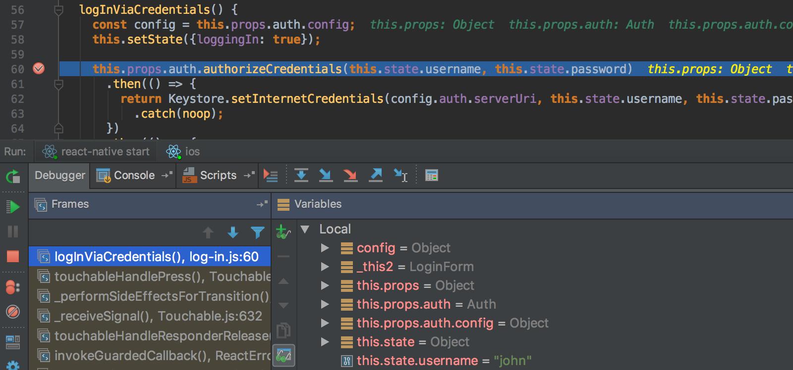 debugging-the-app