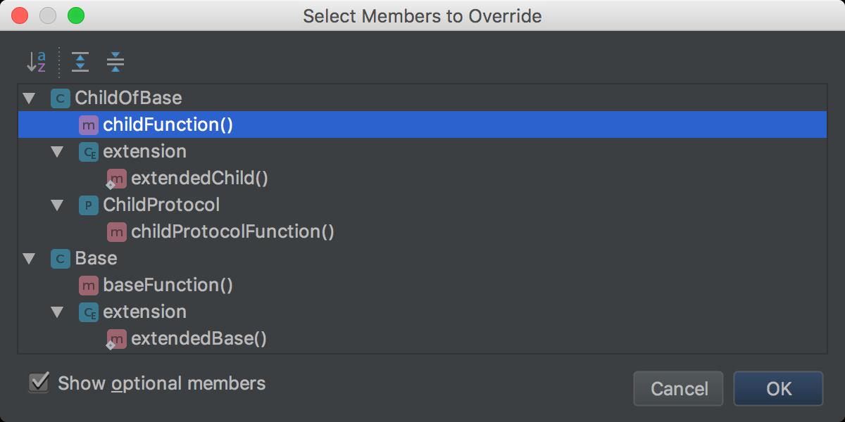 Override hierarchy
