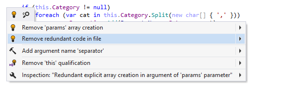 Removing redundant array creation
