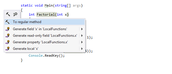 Convert local function into a regular method
