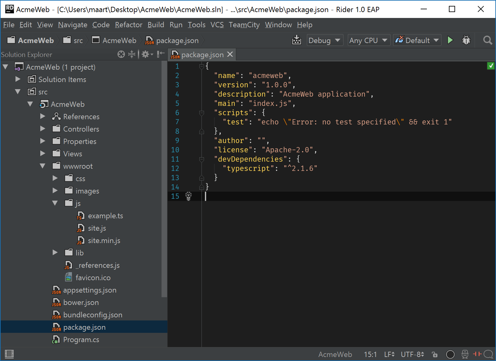 File Watchers in Rider - Sample project