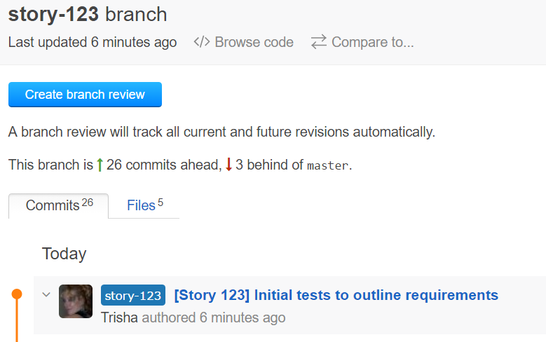 Create branch review