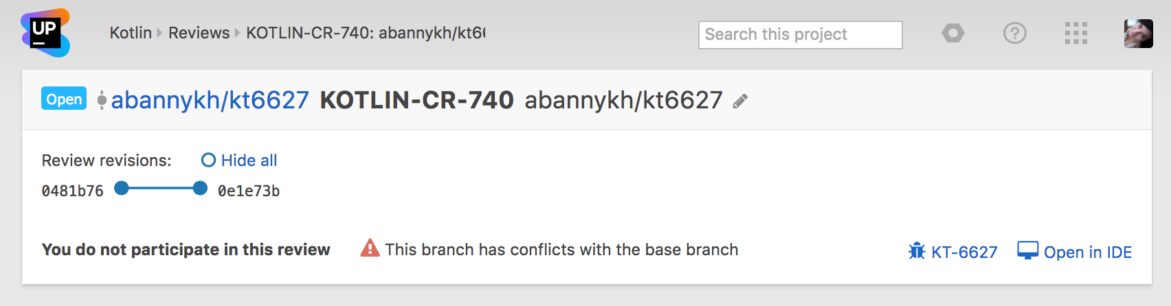 Merge branch without conflicts