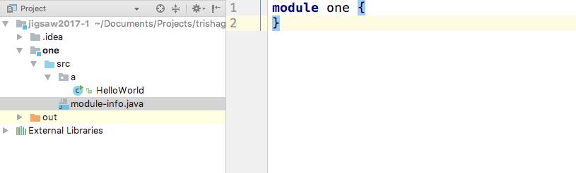 Default module-info.java