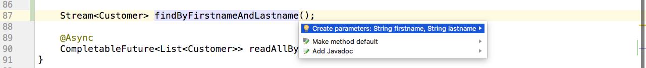 Quick fix for parameters
