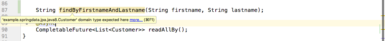 Incorrect return types