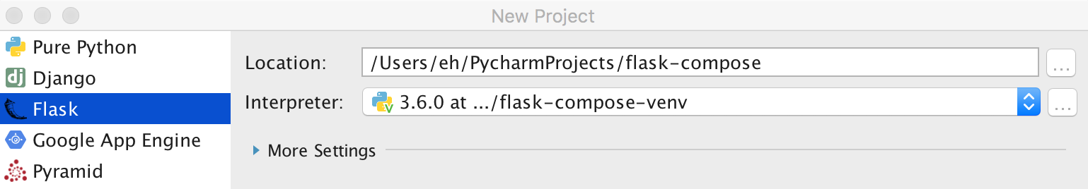 Create a Flask Project