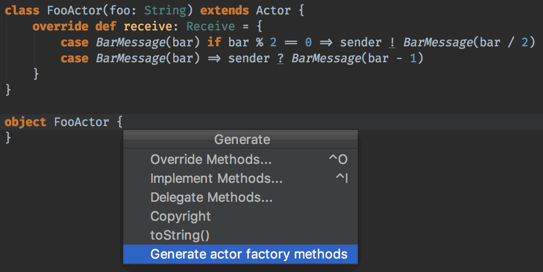 Generate Factory Method
